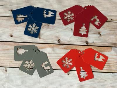 Shape cut christmas tags