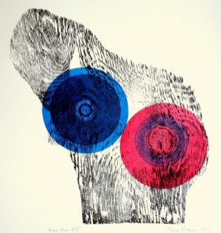 Chris Francis, Three Colour Process, Relief Print with Found and Manufactured Objects, 2013
