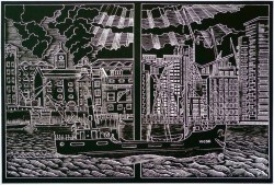 Peter Tingey, Steamin' Through the Years, Engraved plastic relief print, 2013
