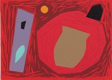 Michael Kennedy, Savage Garden, Linocut and stencil