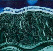 Sally McClaren, Night Sky, Etching