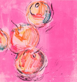 Andrea Robinson, Dark Apples, Screenprint