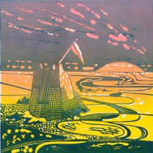 Annette Sykes, The End of the Day, Linocut and etching