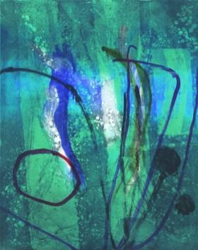 Janet Wilson, 'Aqua', Monoprint