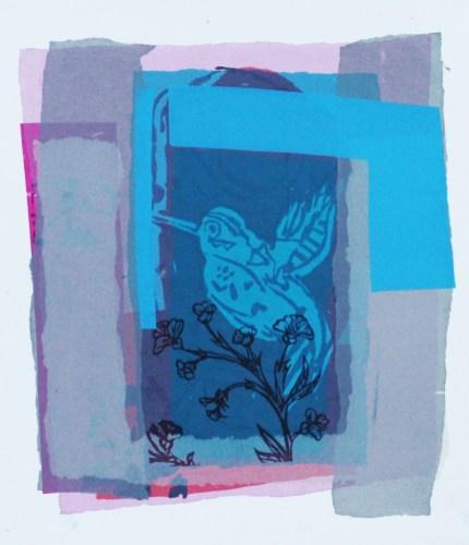 Humming bird and Flower - Laura Reiter