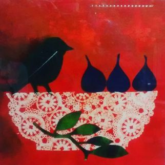 Sumanjit Gujral 'Autumn Plate' monotype £250