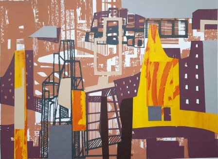 Nigel Milner 'Where the Light Gets In' screenprint/collage £300