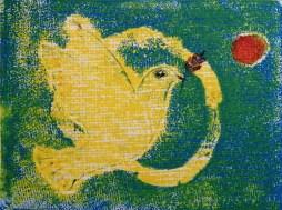 Jin Farrall 'For World Peace' linocut £110