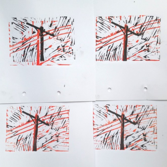 How to press a linocut