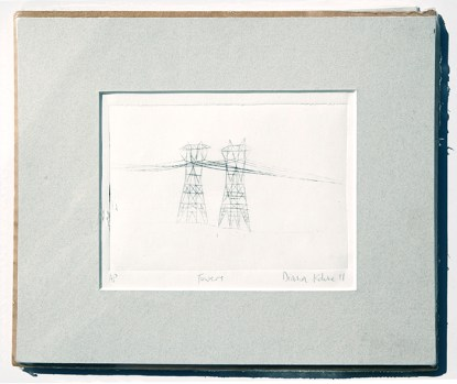 rustic electrical tower original art