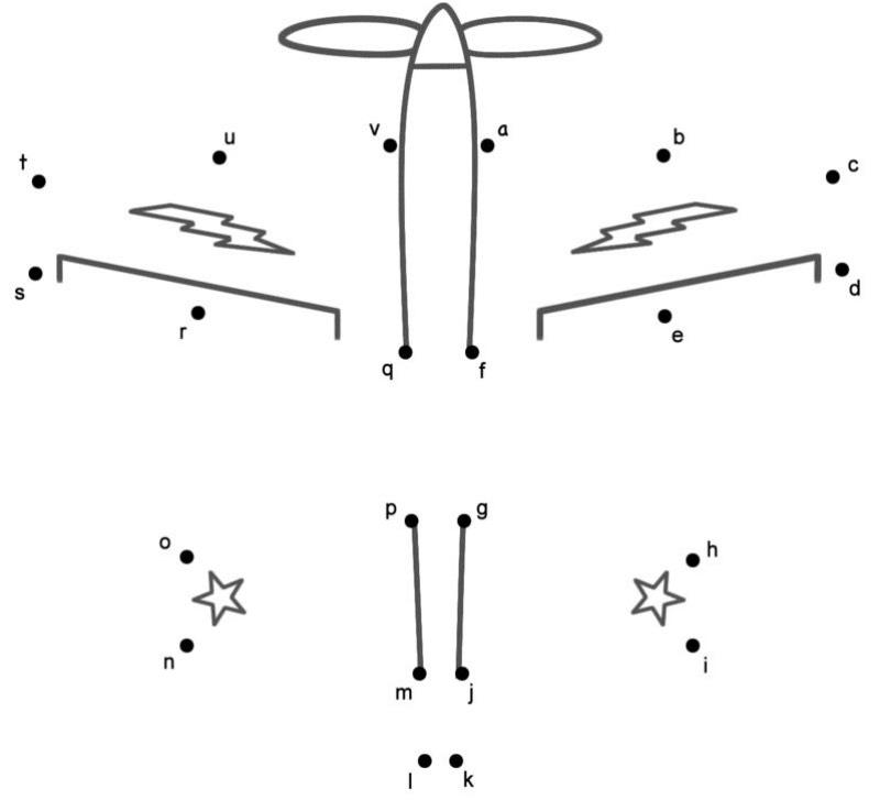 Kleinbuchstaben, Teil 1 Buchstaben Punkt zu Punkt
