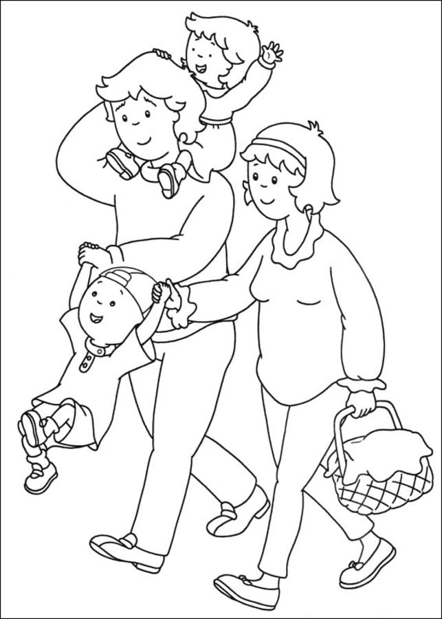 Coloring Pages Coloring Pages Caillou Printable For Kids Adults Free