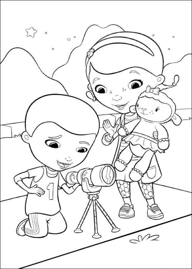 Dibujos Para Colorear Doctora Juguetes Imprimible Gratis