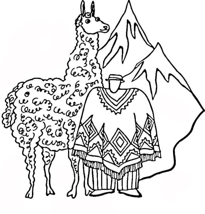 Coloring Pages Coloring Pages Llama Printable For Kids