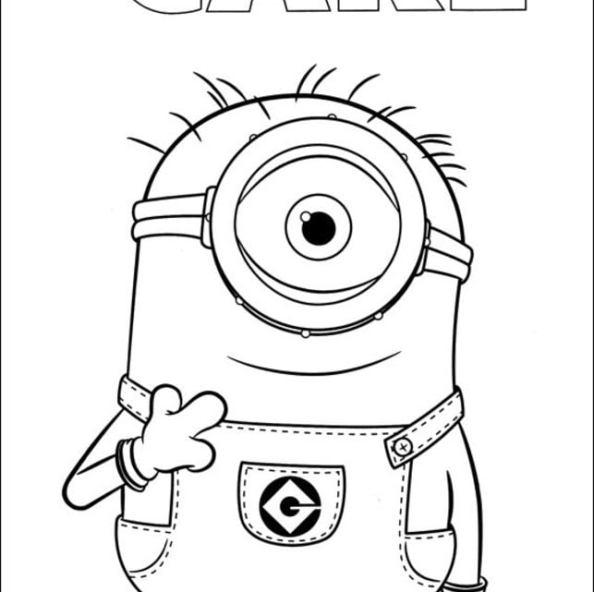 Dibujos Para Colorear Minions Imprimible Gratis Para Los Niños Y