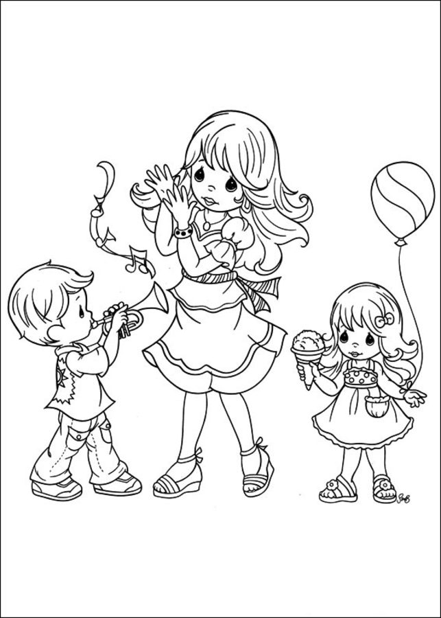 Coloring pages: Precious Moments Cartoons Coloring pages