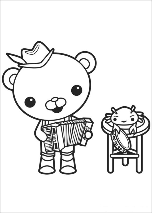 Coloring Pages Coloring Pages The Octonauts Printable For Kids Adults Free