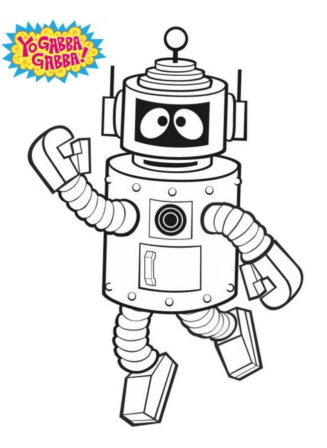 Coloring Pages Yo Gabba Gabba Printable For Kids