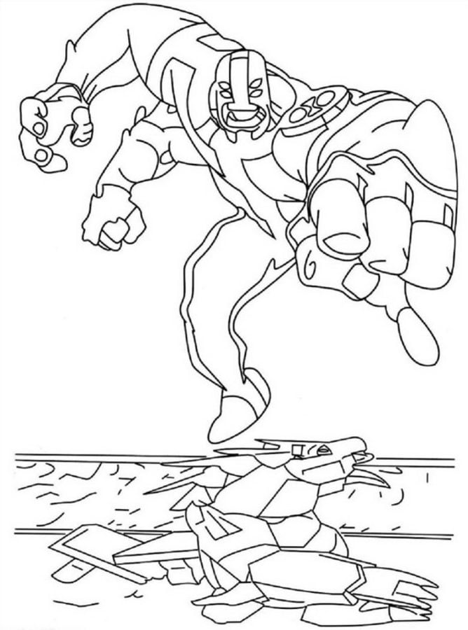 Coloring Pages: Coloring Pages: Ben 10, Printable For Kids & Adults, Free