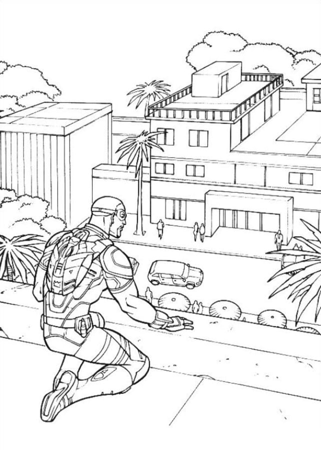 Dibujos Para Colorear Capitán América Civil War Imprimible