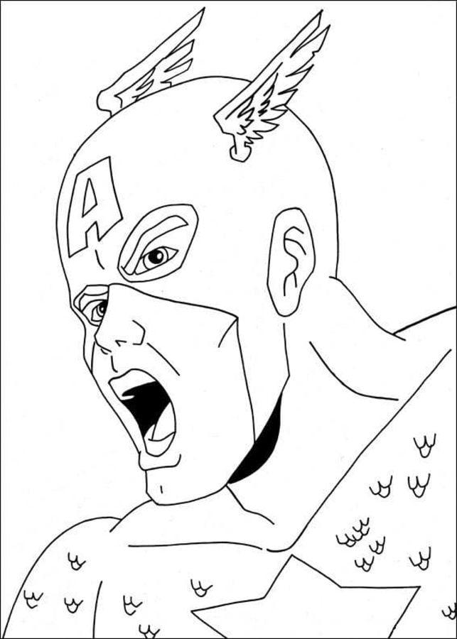 Dibujos Para Colorear Capitán América Imprimible Gratis