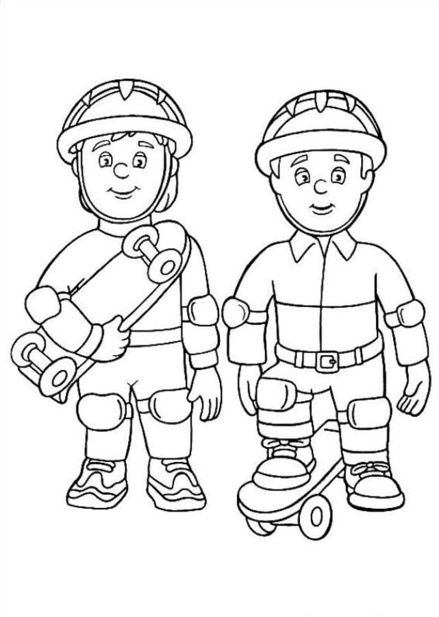 Coloriages Sam Le Pompier Imprimable Gratuit Pour Les Enfants