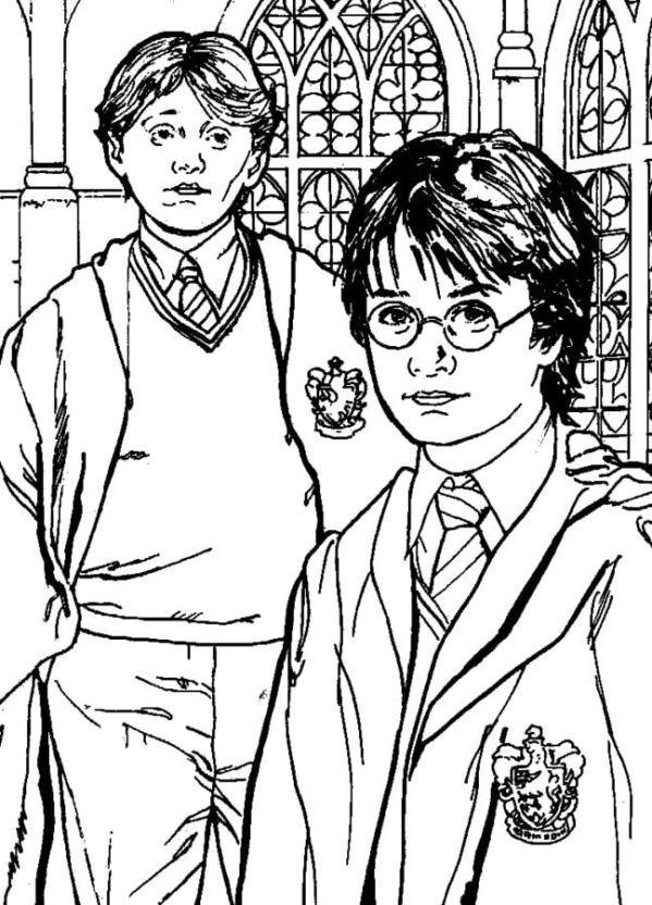 Disegni Da Colorare Disegni Da Colorare Harry Potter E La Camera