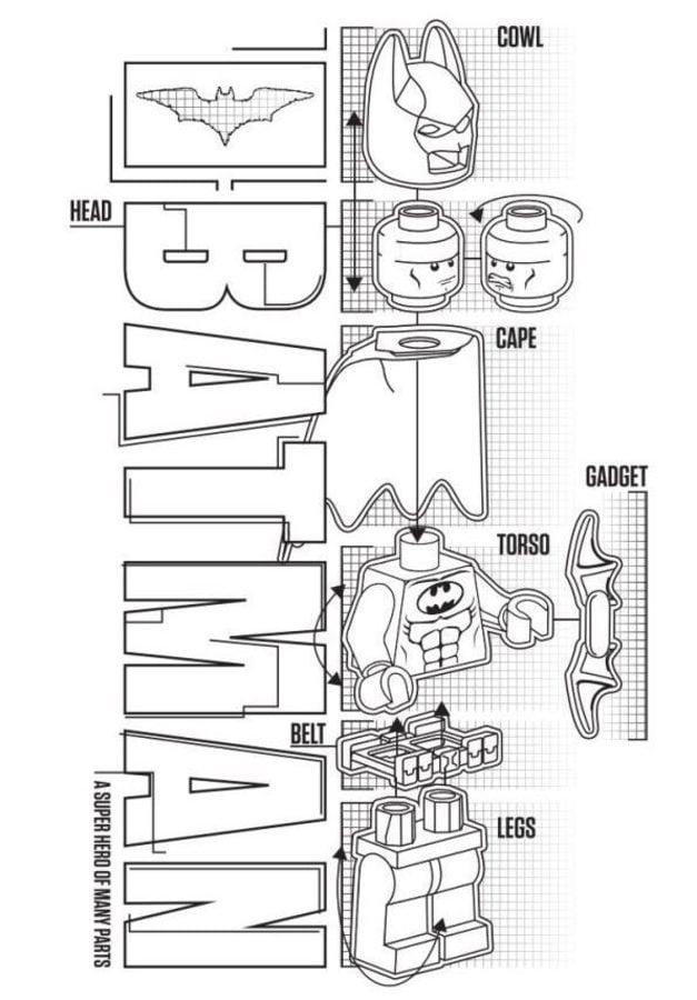 Dibujos Para Colorear Lego Batman Imprimible Gratis Para Los