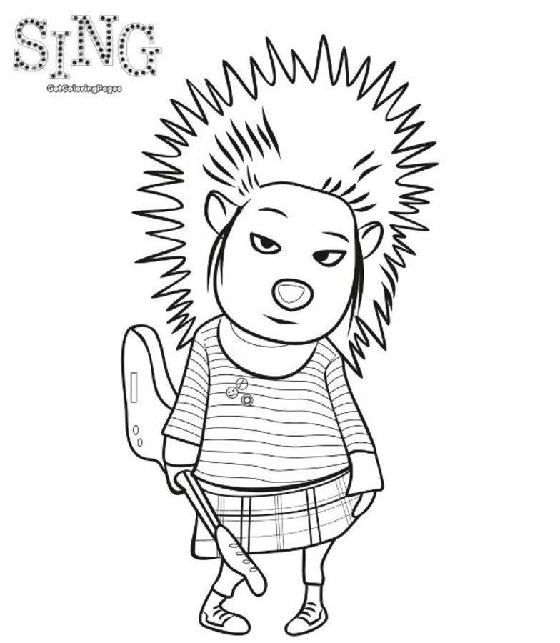 Dibujos Para Colorear Sing Imprimible Gratis Para Los Niños Y Los