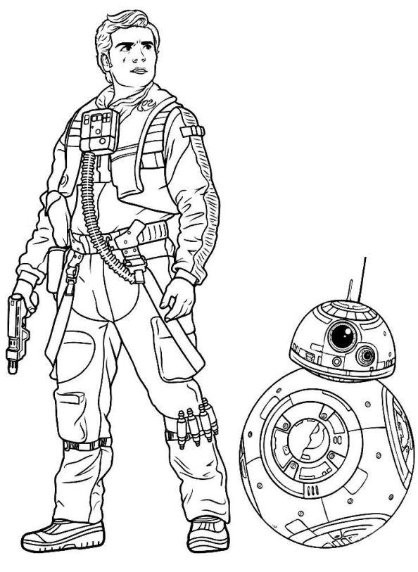 Ausmalbilder: Star Wars: Das Erwachen der Macht Ausmalbilder Zeichentrickfilme