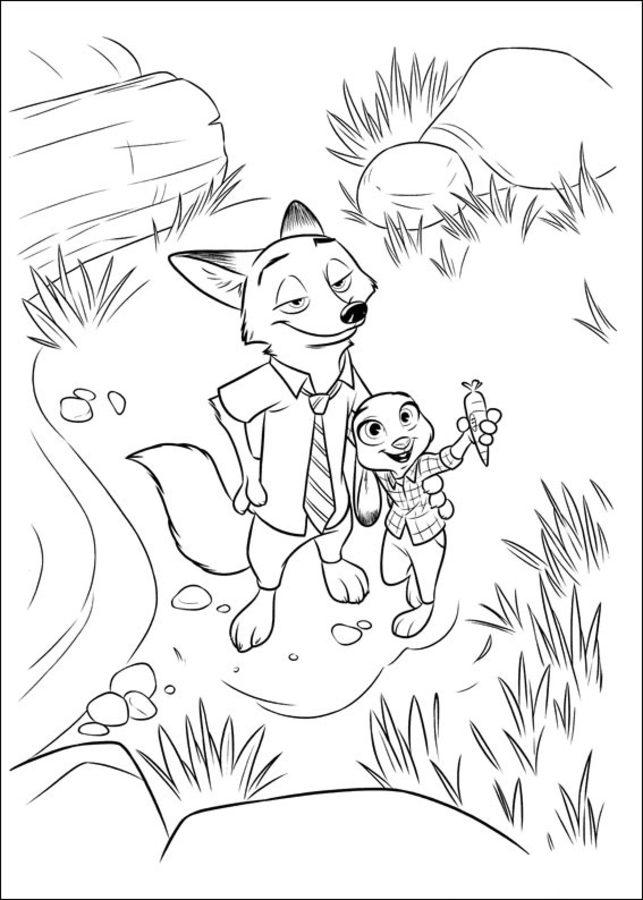 Dibujos Para Colorear Zootopia Imprimible Gratis Para Los Niños Y