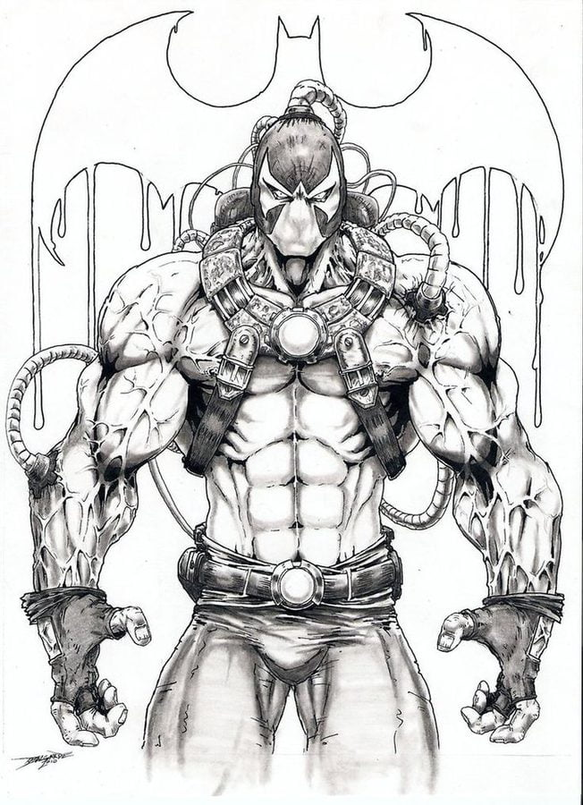 Coloring Pages Coloring Pages Bane Printable For Kids Adults Free