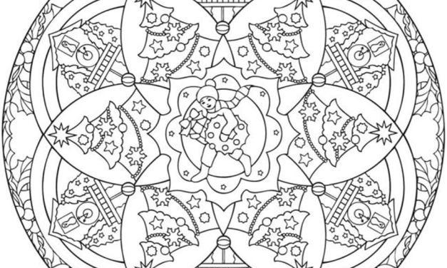 Ausmalbilder: Weihnachts Mandalas