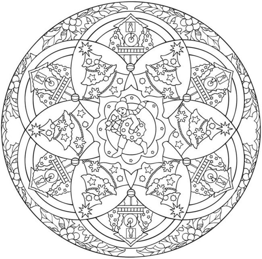 Ausmalbilder: Ausmalbilder: Weihnachts Mandalas zum ausdrucken