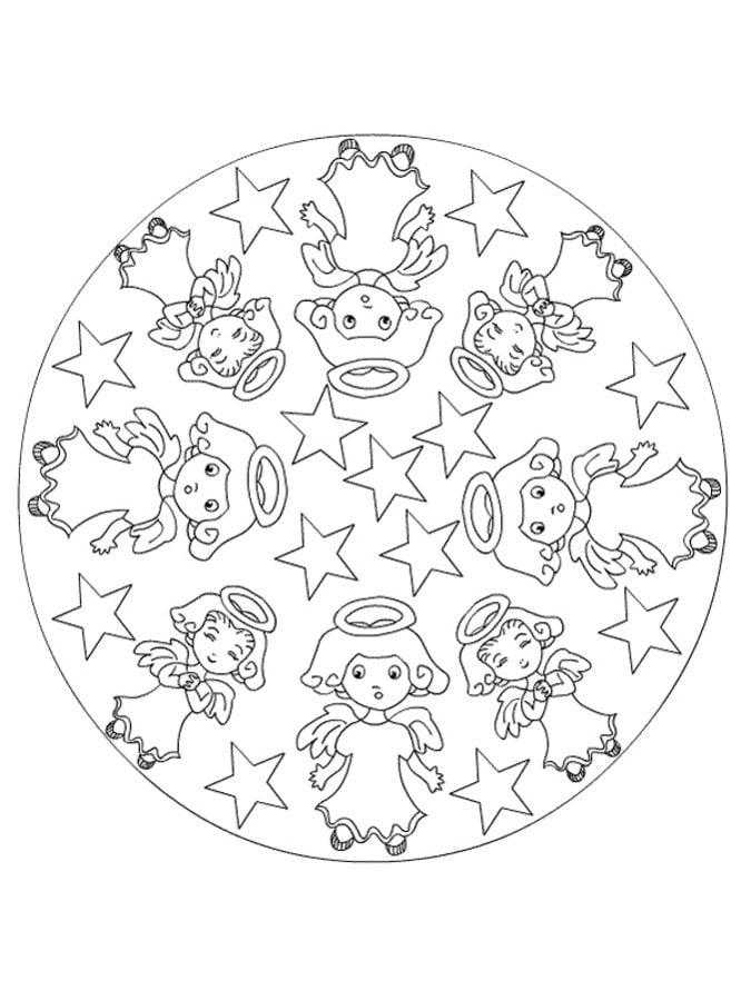 ausmalbilder ausmalbilder weihnachts mandalas zum