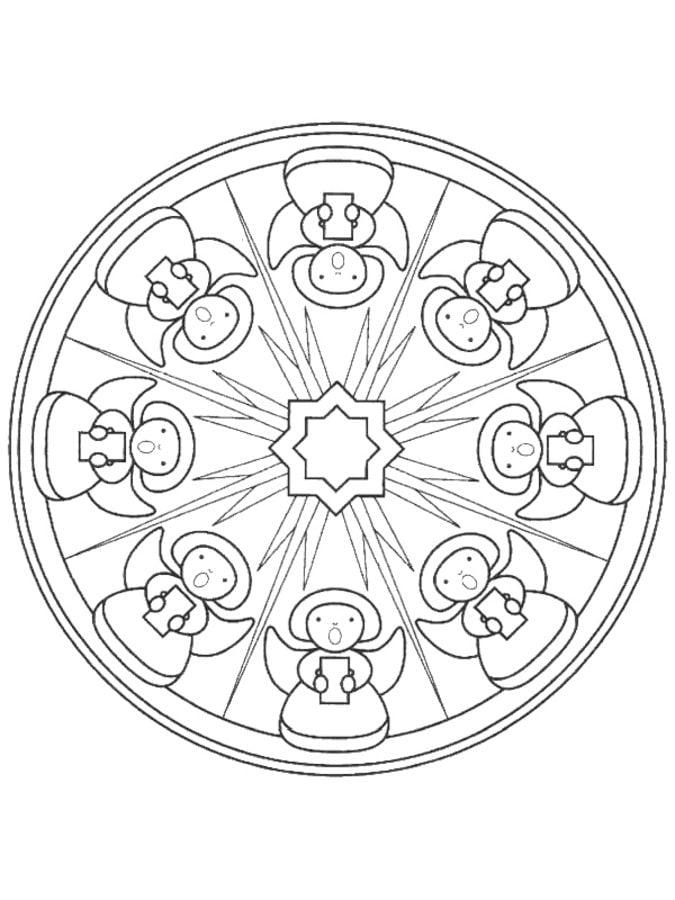 ausmalbilder: ausmalbilder: weihnachts mandalas zum