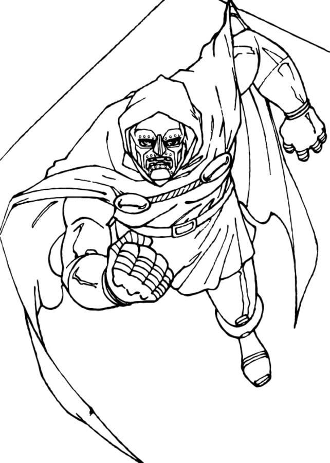Dibujos Para Colorear Doctor Doom Imprimible Gratis Para