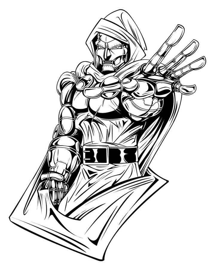 Coloring Pages Coloring Pages Doctor Doom Printable For