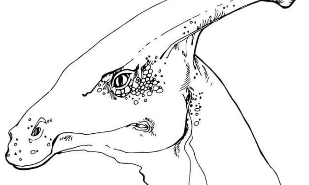 Ausmalbilder: Hadrosaurus