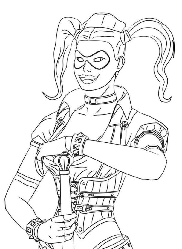 Ausmalbilder Ausmalbilder Harley Quinn Zum Ausdrucken Kostenlos
