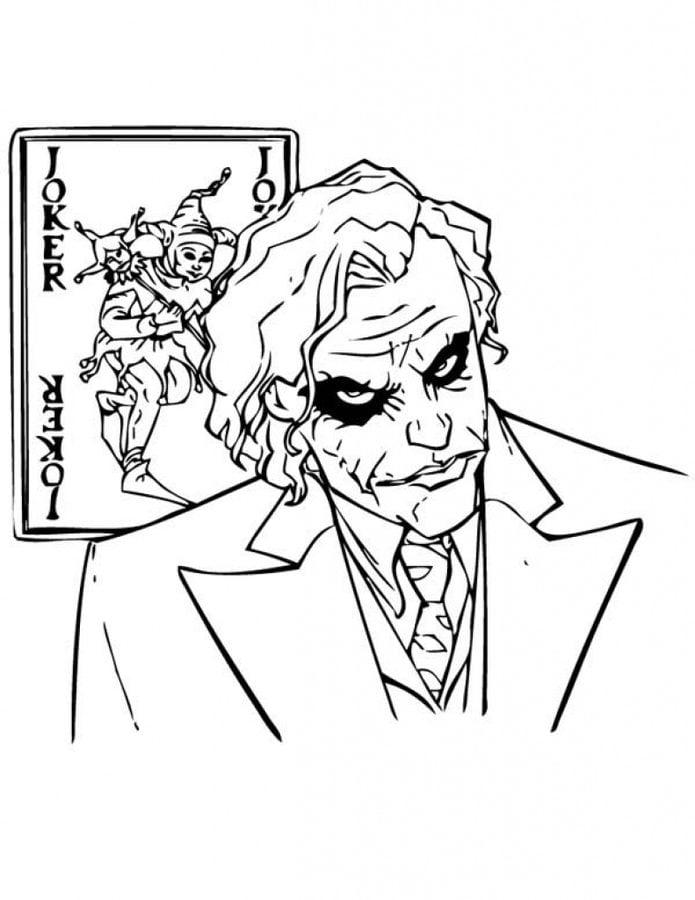 Disegni Da Colorare Disegni Da Colorare Joker Stampabile Gratuito