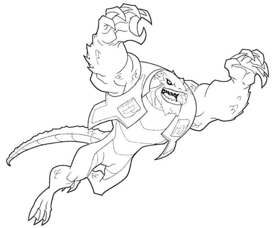 Dibujos Para Colorear Killer Croc Imprimible Gratis Para