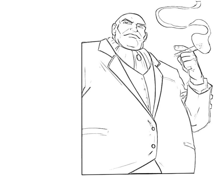 Coloring Pages Kingpin Wilson Fisk Printable For Kids