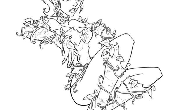 Ausmalbilder: Poison Ivy