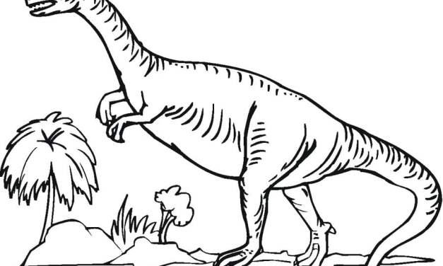 Ausmalbilder: Saurischian Dinosaurier
