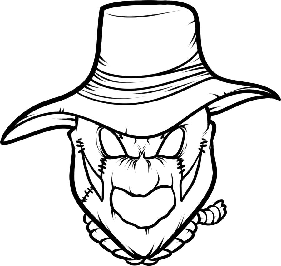 Coloring Pages Coloring Pages Scarecrow Printable For Kids Adults Free
