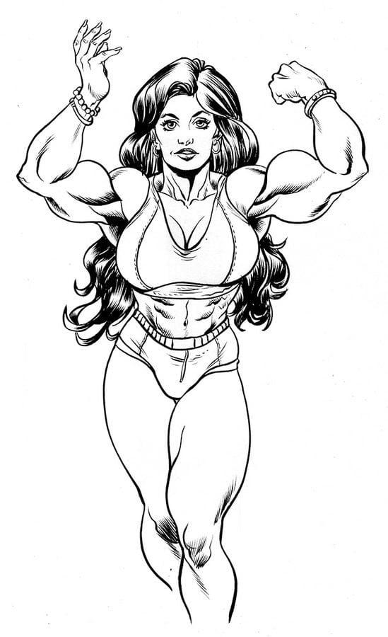 Disegni Da Colorare Disegni Da Colorare She Hulk Stampabile Gratuito Per Bambini E Adulti