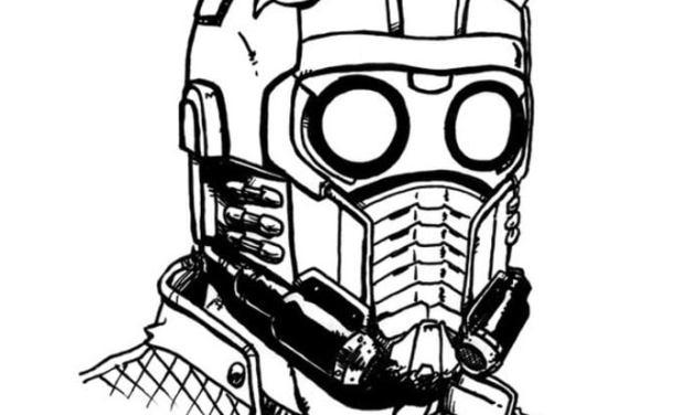 Ausmalbilder: Star-Lord