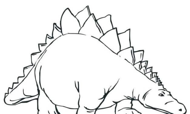 Ausmalbilder: Stegosaurus