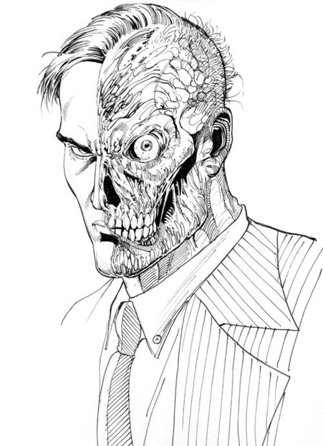 Coloring pages: Coloring pages: Two-Face, printable for ...